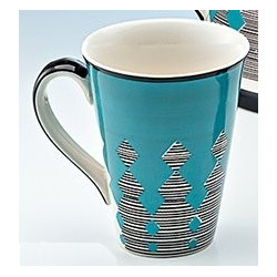 Mug Turquoise Graphique