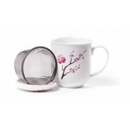 Tisanière Fleur de Cerisier en porcelaine