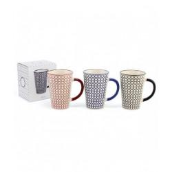 Mug Geometric Rouge