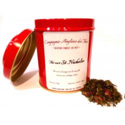 Thé ORANGE, CANNELLE - Thé vert SAINT NICOLAS en boîte