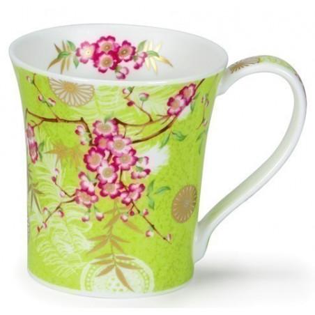 Mug Dunoon vert Fleurs de Cerisier