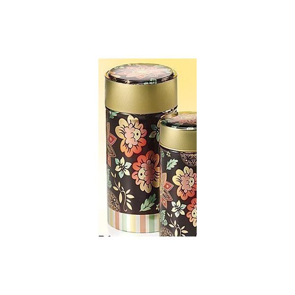 Boîte Cylindrique or et marron - Compagnie Anglaise des Thes