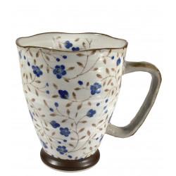 Mug Japonais fleurs bleues - Compagnie Anglaise des Thés