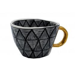 Mug Céramique Design Noir et Blanc