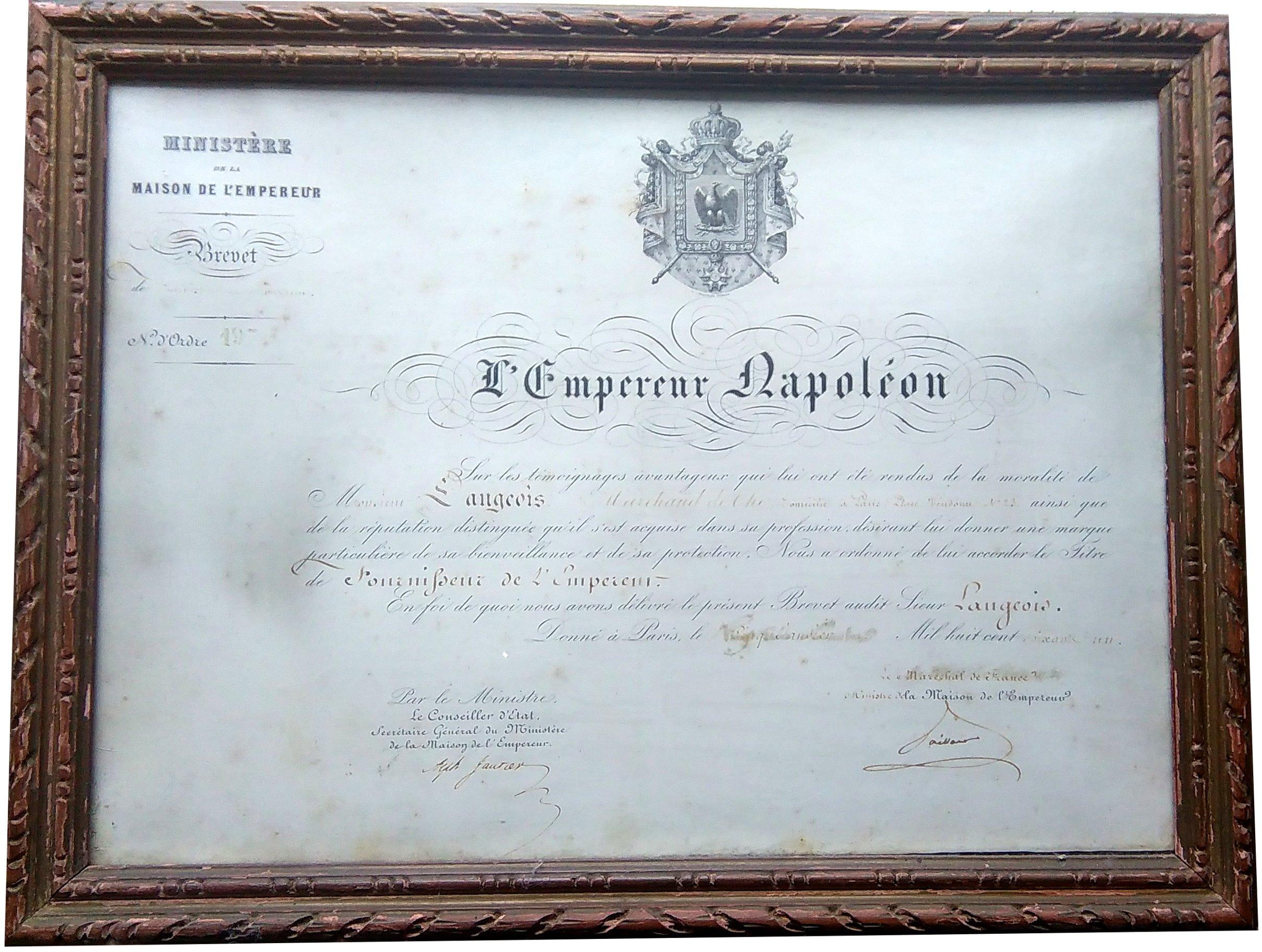 Fournisseur de Napoléon III